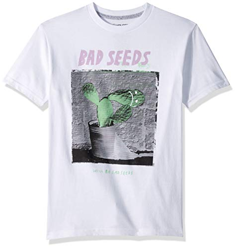 Volcom Big Boys Sad Seeds Camiseta de Manga Corta de Ajuste básico - Blanco - Small