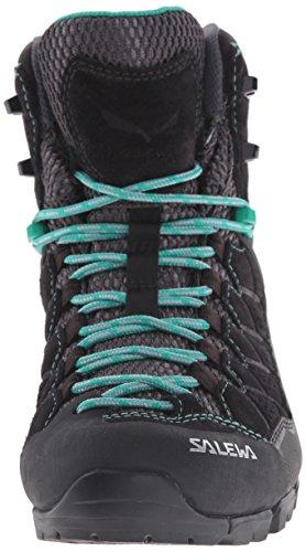 [サレワ]Salewa Alp Trainer Mid GTX Hiking Boots – レディース Day ハイキング ブーツ BLACK OUT/AGATA 9.5 [並行輸入品]
