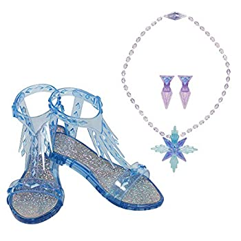 Frozen 2 Elsa Epilogue Accessory Set Pretend Playset Includes Pair of Shoes Earrings & Necklace Perfect for Any Elsa Fan! for Girls Ages 3+