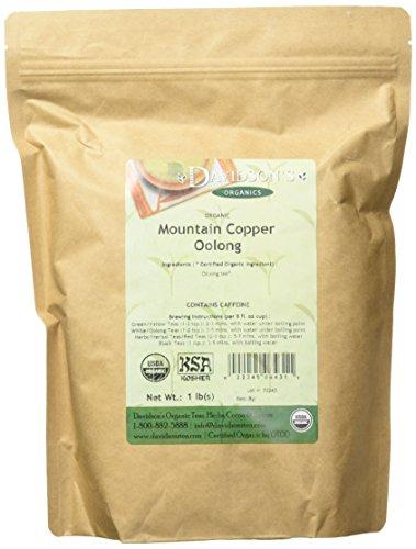 Davidson's Tea Bulk, Organic Mountain Copper Oolong, 16-Ounce Bag