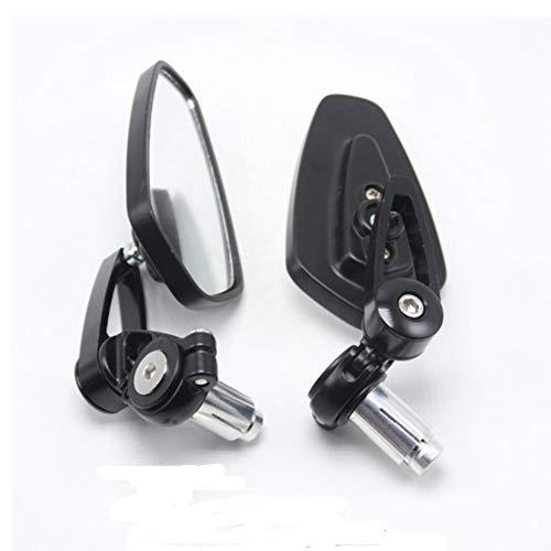 Espejos de Motocicleta de 22 mm, Espejos de Ala Universales, Espejos Retrovisores para Scooter, Espejos Retrovisores Laterales de Aluminio, Rotación de 360 Grados