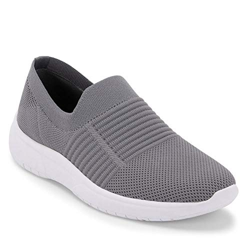Blondo Women's Slip-ON Sneaker, Grey Knit, 8