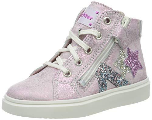 Richter Kinderschuhe Mädchen Flora Star Hohe Sneaker, Pink (Candy/Silver 3111), 28 EU