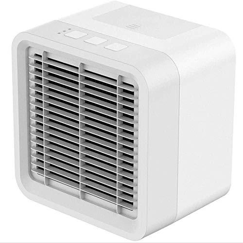 CHANGWW Enfriadores de Ventilador Mini refrigerador de Aire portátil USB Air Cooler Plus Hielo Refrigeración Humidificación Purificación Mini Ventilador de Aire Acondicionado