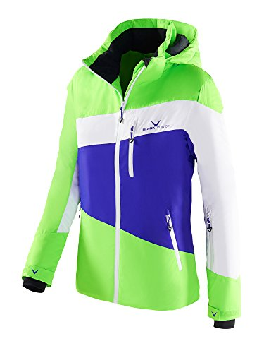Black Crevice Damen Skijacke, Funktionsjacke, Color Blocking, Liberty/weiß/grün, 36
