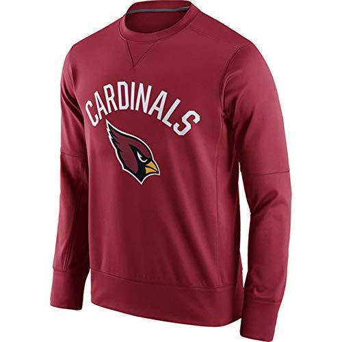 TTH-13 Jersey De La Camiseta - Camiseta NFL Arizona Cardinals Fútbol Jersey De Cuello Redondo De La Camiseta del Otoño Y del Invierno De Manga Larga Jersey De Formación,XXL:180~190cm
