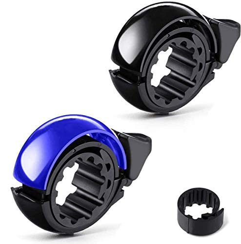 ANLEM Bike Bell, Two Pack Portable Bicycle Bell Invisible Horn Accessories Design Bicycle Handlebar Ring for Mountain Bike and Road Bike