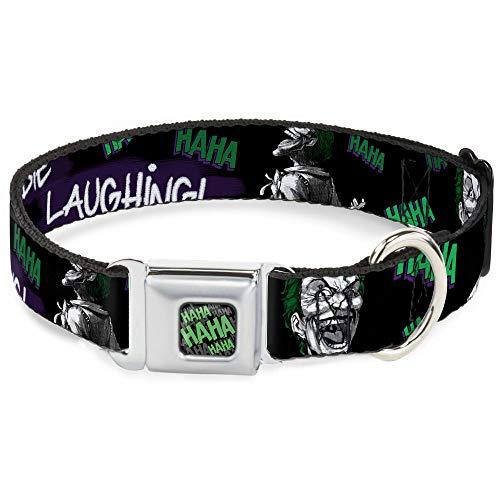 Dog Collar Seatbelt Buckle Joker Die Laughing Haha Black...