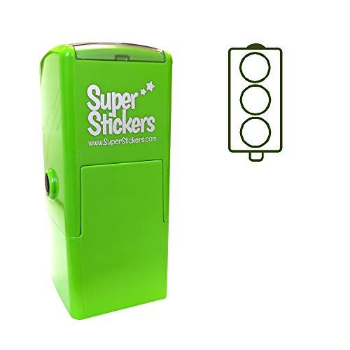 Stamper Solutions - Sello pretintado con luz de tráfico, color verde