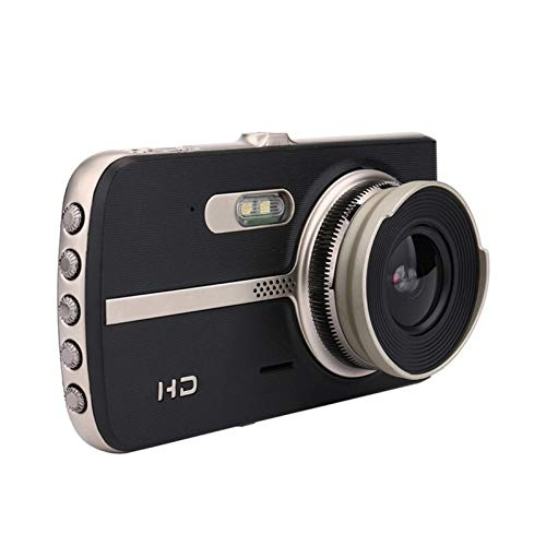 4'Doble Lente DVR Dash Camera Vista Posterior 1080P Full HD Loop Grabación Noche Visión De Noche G-Sensor 170 ° Registrador De Gran Angular Dash CAM JBCZXJ (Color : 32G TF Card)
