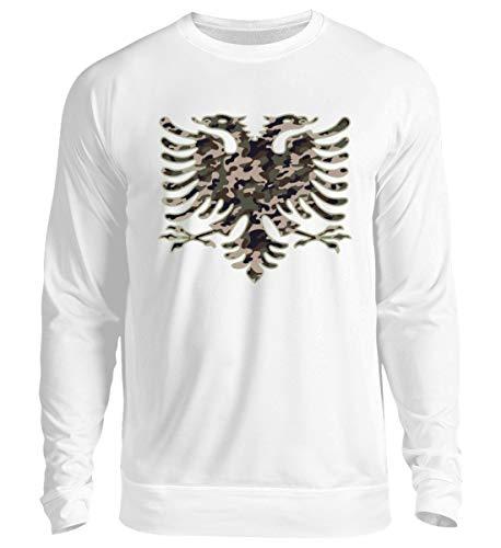 Hochwertiger Unisex Pullover - Albanien Camouflage Flagge Albanien Albanischer Adler Geschenk Albanische Fahne Shqiptar Ländershirt