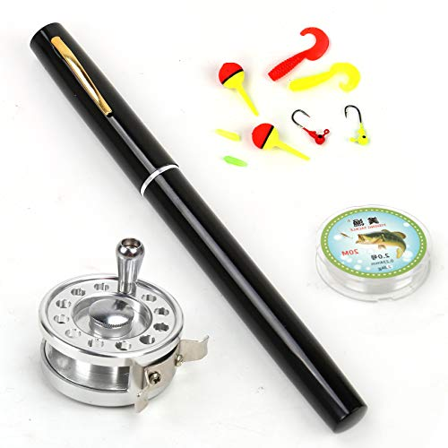 Outamateur Upgraded Pen Fishing Rod Reel Combo Set Mini Pocket...