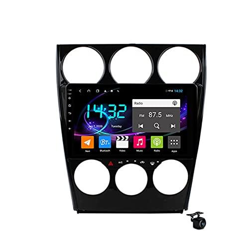 Android 10.0 Coche Estéreo Radio SAT NAV para Mazda 6 2002-2007 GPS Navigation 2 Din Head Unit MP5 Multimedia Video Player FM Bluetooth Receptor con 4G 5G WIFI SWC DSP Carplay,M300s