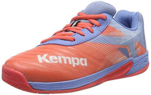Kempa Unisex Wing 2.0 JUNIOR Handballschuhe, Grau (Corail/Gris Lilas 02), 39 EU