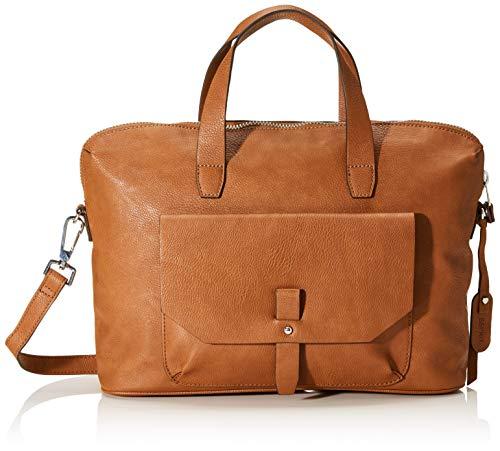 Esprit Accessoires Damen Isa Working Bag Henkeltasche, Braun (Rust Brown), 11x26x35,5 cm