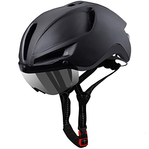 KINGLEAD Bike Helmet, Bicycle Helmet Men CPSC Certified with USB Charging Light&Detachable Magnetic Goggles UV Protective&Reflective Adjustment Straps&Carry Bag Mountain/Road Cycling Helmets(KL-089)