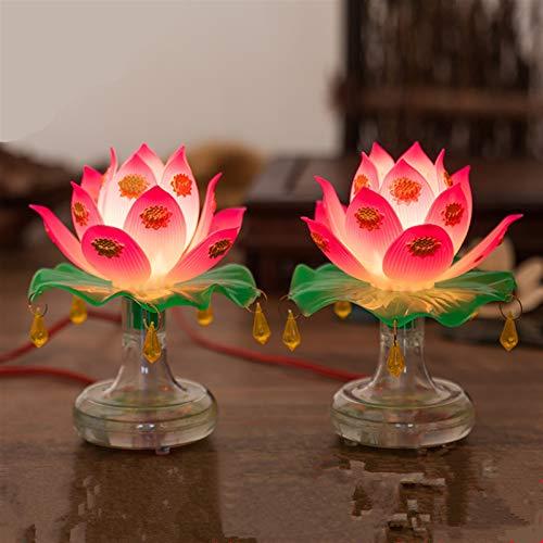 Gjrff Suministros Budismo Santo Lotus lámpara Exquisito Veilleuse Solemne Ceremonia Budista Culto Buda Lámpara Templo Budista Decoración