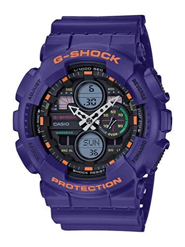 CASIO Herren Analog – Digital Quarz Uhr mit Resin Armband GA-140-6AER
