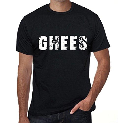 Homme Tee Vintage T Shirt ghees Large Noir