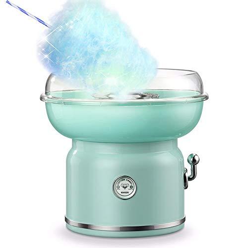 GWLGWL Zuckerwatte-Automat Mini Zuckerwattemaschine für Zuhause mit Zucker oder Zuckerfreie Harte Süßigkeiten Bonbons zu Benutzen 500 Watt Heizleistung, 4 Zuckerwattestabs