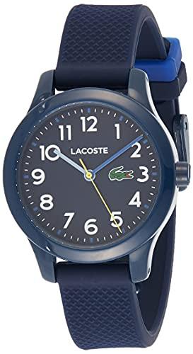 Lacoste Relógio infantil TR90 de quartzo com pulseira de borracha, azul, 14 (modelo: 2030002)