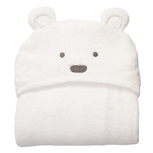 TENDUAGEN Baby Newborn Kapuzen Decken Baby Schlafsack Animal Baby Swaddle Wrap Decke Weich mit Kapuze Baby Handtuch für Infant Neugeborenen (Weiß)