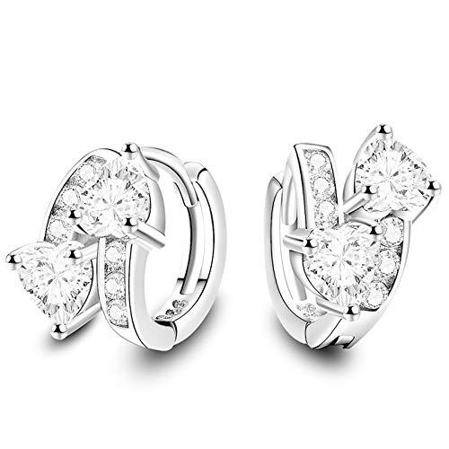 Pendientes de diamantes de imitación de plata Colgante de oreja Emperament de circonita Aaa para mujer