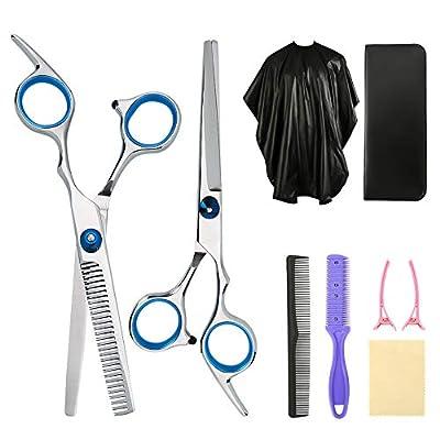 Yorgewd 8-Pack Hairdressing Scissors Kit Professional Home Hair Cutting Set Barber/Salon/Home Shear Kit for Men Women Pet