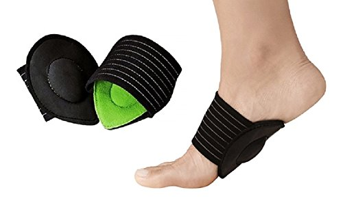 Cushioned Plantar Fasciitis Foot Arch Support Sleeves - Soft Foam Compression Pad Pain Relief for Fallen Arches - Unisex Single Pair - Universal Size