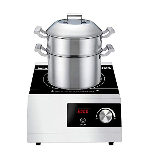 Professional Commercial Induction Cooktop Warmfod 5000W(240v), Easy Operation with Rotate Knob,...