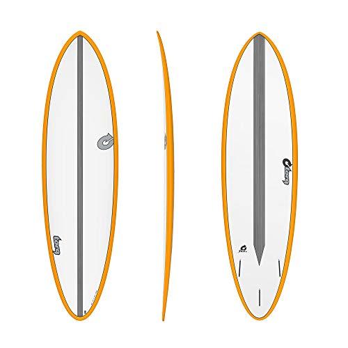 TORQ Epoxy TET CS 6.8 Fun Carbon - Tabla de Surf, Color Naranja