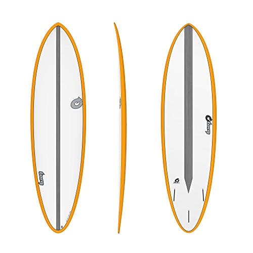 TORQ Tabla de surf Epoxy TET CS 6.8 Fun Carbon Naranja