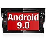 PUMPKIN Android 9.0 Autoradio Radio für Opel Astra Corsa Zafira mit Navi DVD Player Unterstützt Bluetooth DAB+ USB CD DVD Android Auto MicroSD 2 Din 7 Zoll Bildschrim Schwarz