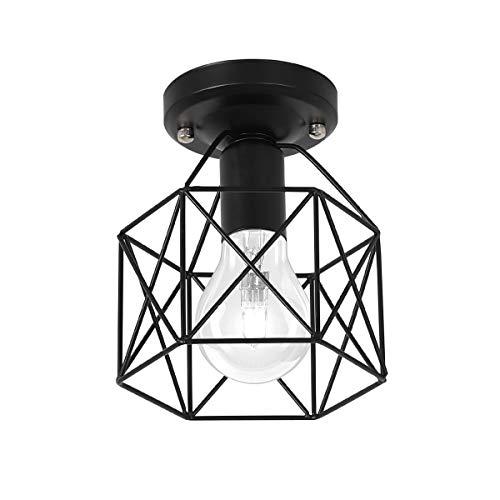 Pendelleuchte, HeTaiDa Geometrischen Metall E27 Lampenfassung Industrial Vintage Deckenleuchte Geeignet für Wohnzimmer Schlafzimmer Büro