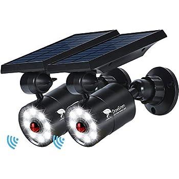 Solar Lights Outdoor Motion Sensor of 2, 9-Watt(130W Equ.) 1400-Lumen LED Spotlights, Solar Flood Security Lights for Garden Driveway Patio Yard Path Porch Deck, 100-Week 100% Free Replacement