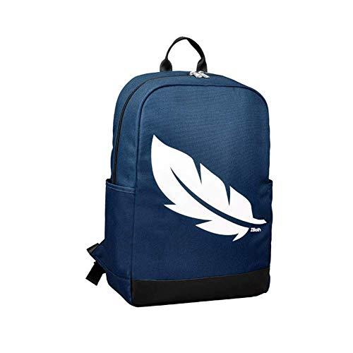 Rugzak, veelzijdige bedrukte schoudertas, casual rugzak polyester schoudertas, grote capaciteit waterdichte tas blauw, geschikt voor mannen en vrouwen