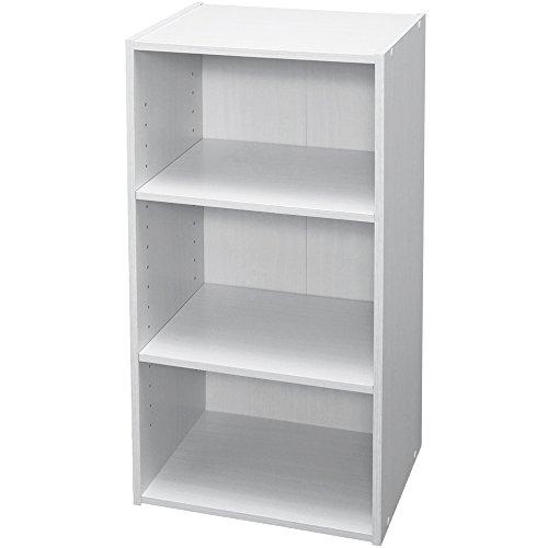 アイリスオーヤマ カラーボックス 収納ボックス 本棚 3段 可動棚 幅36.6×奥行29×高さ73.2cm