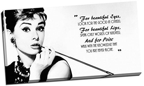 Kunstdruck auf Leinwand, Audrey Hepburn, Zitat, groß, 76,2 x 40,6 cm [nicht in deutscher Sprache]