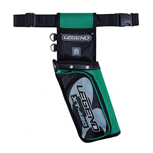 Legend - XT420 Field Quiver with Adjustable Nylon Belt | Lightweight Design Sits on Your Hip Comfortably | Triple Arrow Compartments for Quick Draw and Storage | 3 Pockets