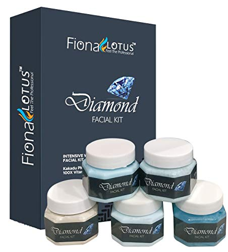 Fiona Lotus® Professional Diamond Radiant Skin Instant Glow Beauty Parlour Facial Kit Pro Active, All Type of Skin Solution for men & women skin glow, fairness - 500 gm