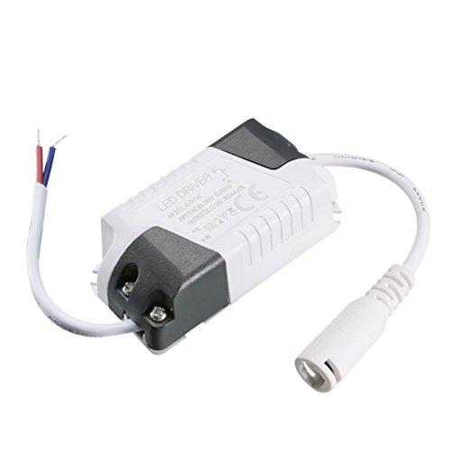 Sourcingmap – Constante corriente 300 mAh LED de alta potencia controlador DC Conector de alimentación externa LED lámpara de techo rectificador transformador 4-7W(1pcs)