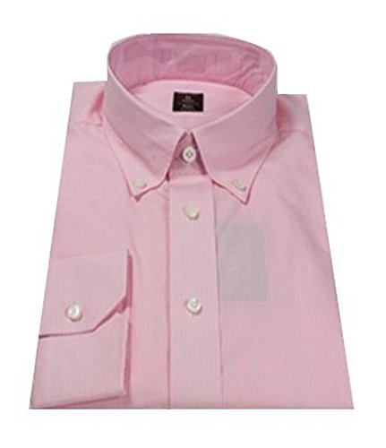 Robert Talbott Pink Plaid Check Estate Bespoke Dress Shirt 17.5