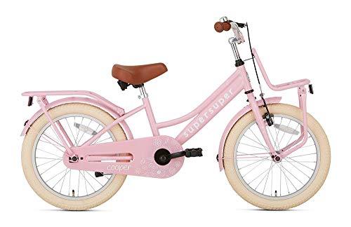 POPAL SuperSuper Cooper Kinder Fahrrad für Kinder | Mädchen Fahrrad 18 Zoll ab 5-7 Jahre| Kinderrad met Stützrädern | Rosa