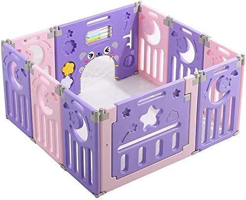 Interessant Zhoumei Box baby Fence baby Park Barrier baby met Kruipen MaSafety Plastic Child Protection deurpaneel GamSpace (Size : 150x110x62cm)