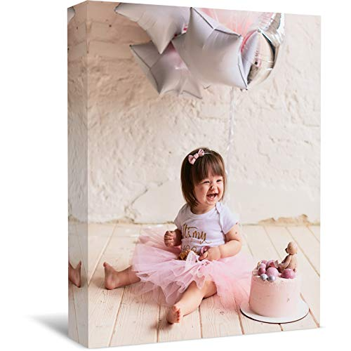 MZDesign Personalized Wall Art with Your Photo On Canvas - Custom Photo to Canvas Print Wall Art -Photo Canvas with Your Images- Canvas Wall Art for Living Room Bedroom Home Décor (11x14 inhces)