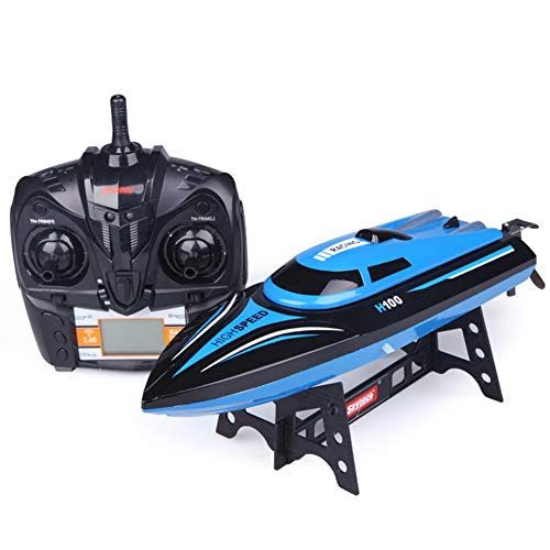 Matedepreso RC Boat H100 2.4Ghz 4 Channel Remote Control Electric Racing Boat High Speed Boats RC Toys with LCD Screen