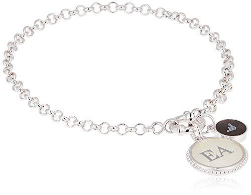 Emporio Armani Damska bransoletka z łańcuszkiem, srebro wysokiej próby 925, masa perłowa EG3357040