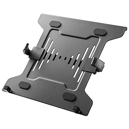 Mount Plus MP-NBH-2 Laptop Mount Tray for Monitor Arms and Stands (Tray Only) | Notebook Arm Mount Tray Fits 75 x 75 and 100 x 100 mm VESA Mount Holes | Fully Secures Laptop