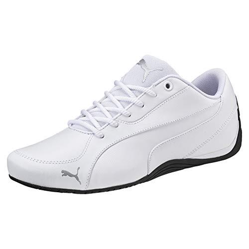 PUMA Puma Unisex Sneakers Drift Cat 5 Core – Flache Turnschuhe für Damen und Herren im coolen Motorsport-Style Drift Cat 5 Core Puma White UK 6.5_Adults_FR 40