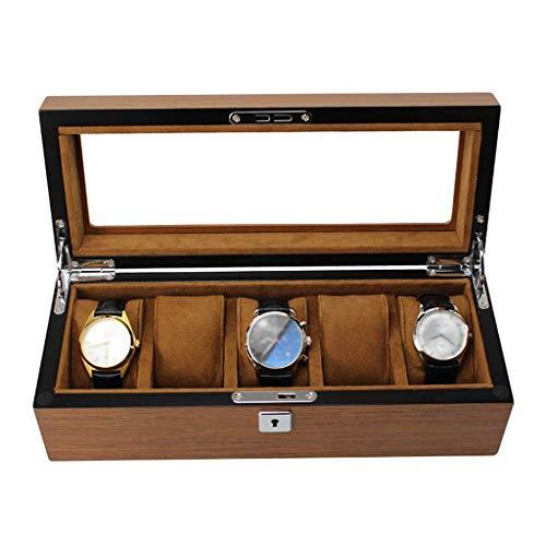 CCAN Caja Grande para Relojes para Hombres, 5 Ranuras para Relojes, Organizador...